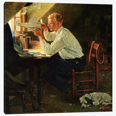 Is It Play for Eyes Too?' Canvas Print #NRL212} by Norman Rockwell Canvas Wall Art
