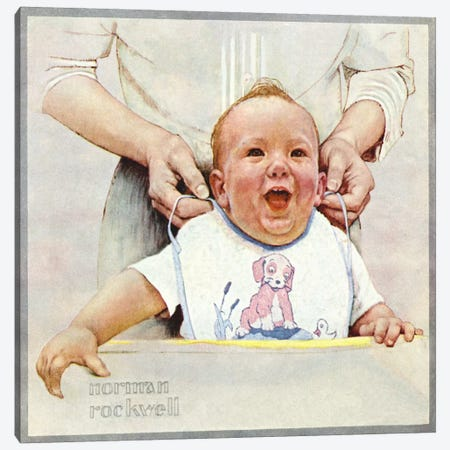 Enjoyment Canvas Print #NRL215} by Norman Rockwell Canvas Print