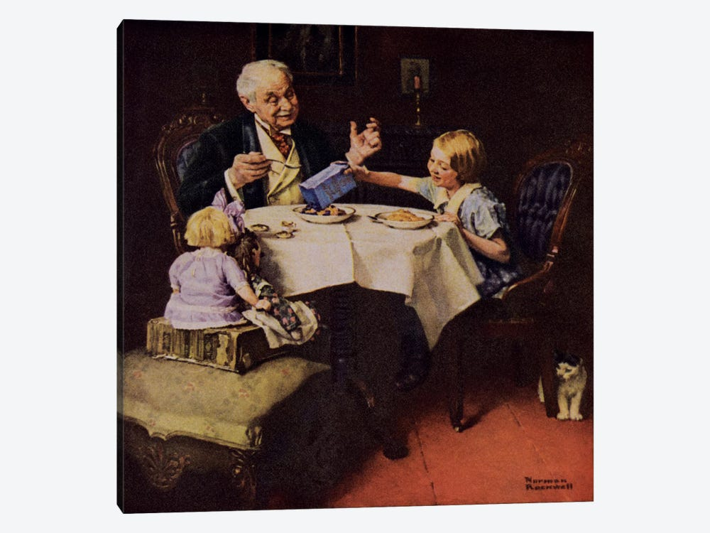 The More Raisins the Better the Pudding by Norman Rockwell 1-piece Canvas Art