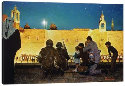Uneasy Christmas in the Birthplace of Peace Canvas Art Print
