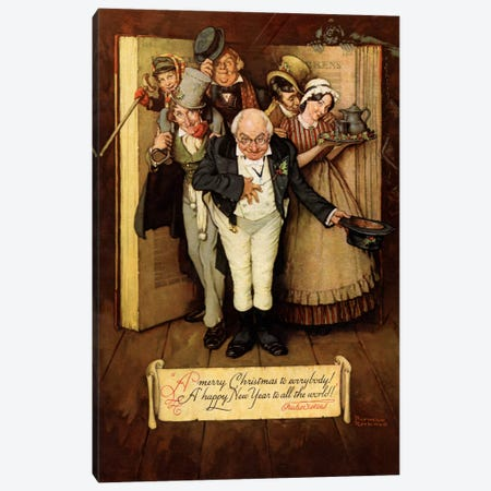 World of Charles Dickens Canvas Print #NRL231} by Norman Rockwell Canvas Art