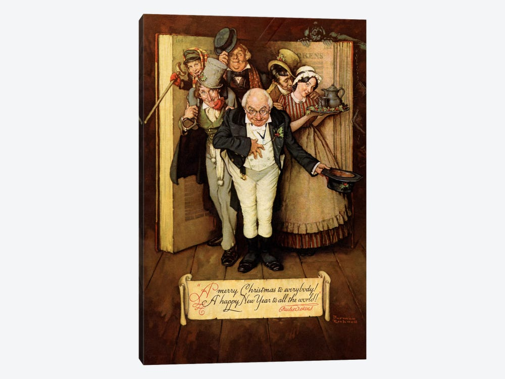 World of Charles Dickens by Norman Rockwell 1-piece Canvas Art