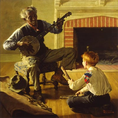 The Banjo Player Art Print by Norman