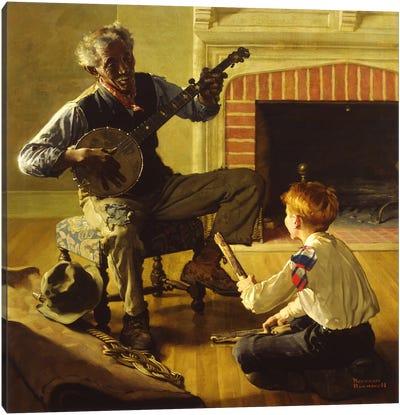 The Banjo Player Canvas Print #NRL233