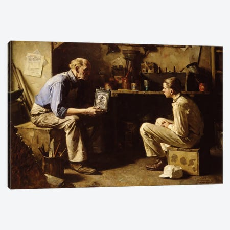 The Master and the Apprentice Canvas Print #NRL236} by Norman Rockwell Canvas Art Print
