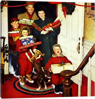 """""""Merry Christmas, Grandma...We Came in Our New Plymouth!"""" Canvas Art Print"""