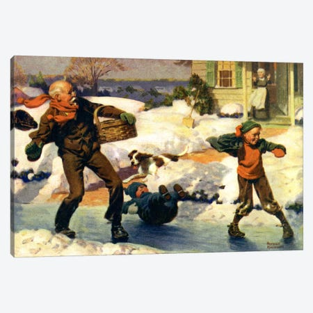 Good for Young and Old Canvas Print #NRL246} by Norman Rockwell Canvas Artwork