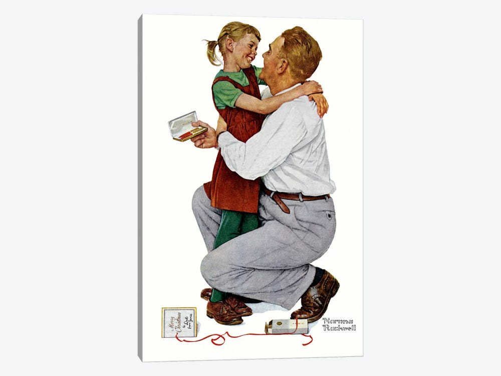 She Gave Me a Parker 61 by Norman Rockwell 1-piece Canvas Wall Art
