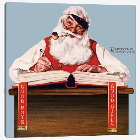 No Christmas Problem Now Canvas Print #NRL253} by Norman Rockwell Canvas Artwork