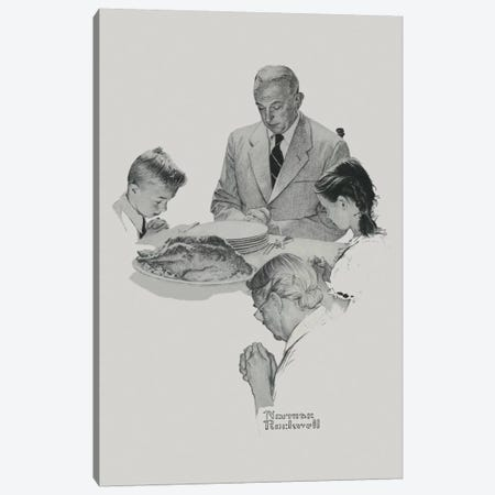 Thanksgiving Canvas Print #NRL256} by Norman Rockwell Art Print