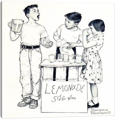 Lemonade Stand Canvas Art Print