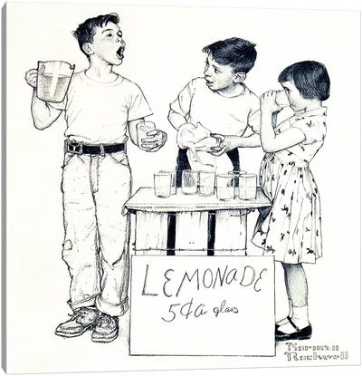 Lemonade Stand Canvas Print #NRL260