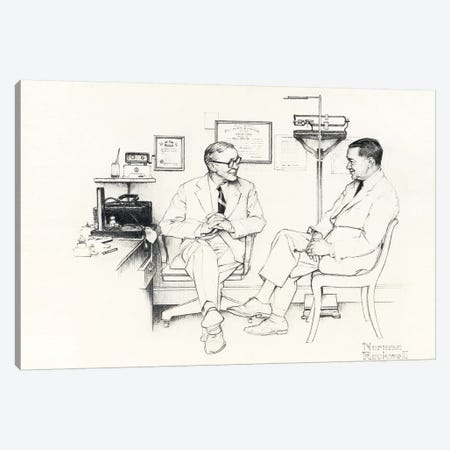 Doctor's Office Canvas Print #NRL268} by Norman Rockwell Canvas Print