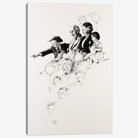 Circus Canvas Print #NRL269} by Norman Rockwell Art Print