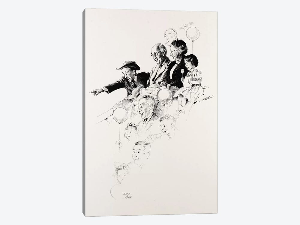 Circus by Norman Rockwell 1-piece Canvas Art Print