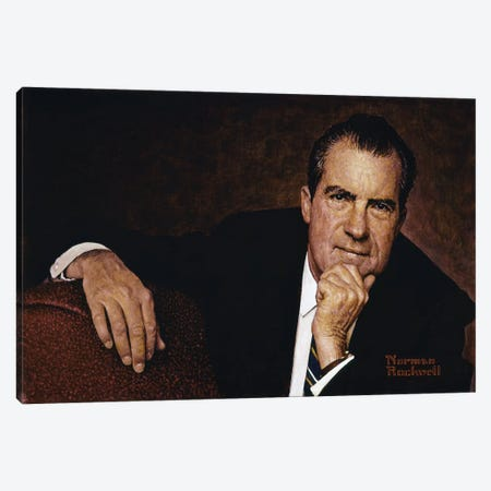 Portrait of Richard M. Nixon Canvas Print #NRL26} by Norman Rockwell Canvas Print