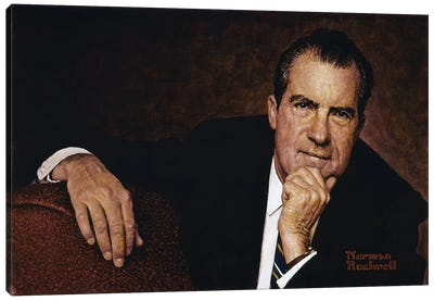 Portrait of Richard M. Nixon Canvas Art Print