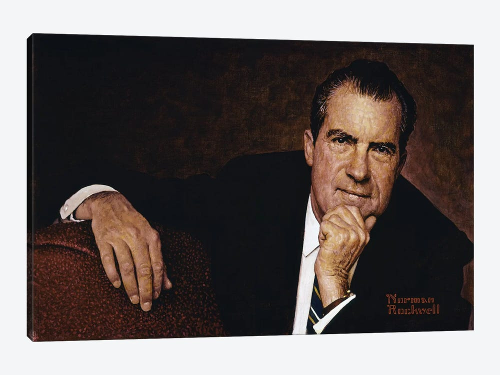 Portrait of Richard M. Nixon by Norman Rockwell 1-piece Canvas Print