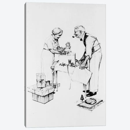 Christmas Canvas Print #NRL270} by Norman Rockwell Canvas Wall Art
