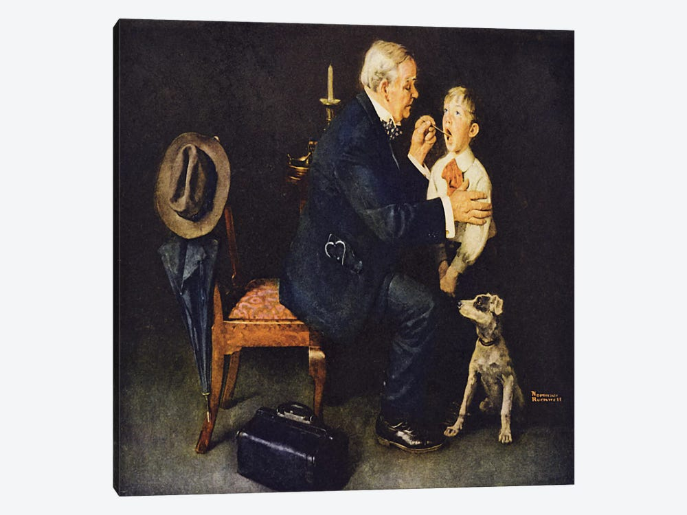 """The Same Advice I Gave Your Dad…Listerine After"" by Norman Rockwell 1-piece Canvas Wall Art"