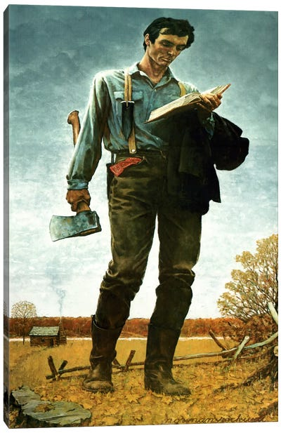 Lincoln the Railsplitter by Norman Rockwell Canvas Art Print