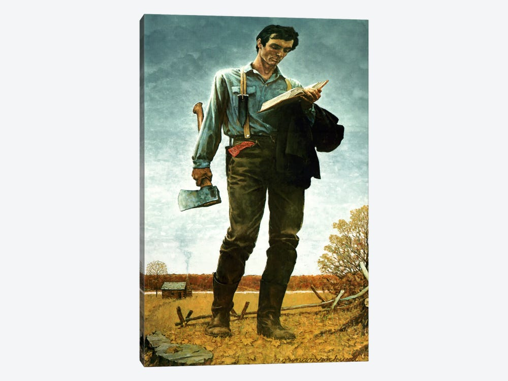 Lincoln the Railsplitter by Norman Rockwell 1-piece Canvas Wall Art