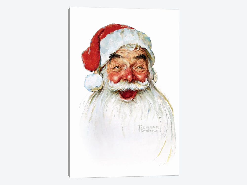 Santa Claus by Norman Rockwell 1-piece Canvas Wall Art