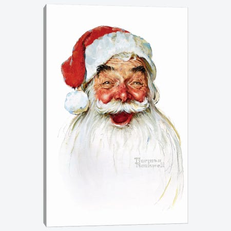 Santa Claus Canvas Print #NRL280} by Norman Rockwell Art Print