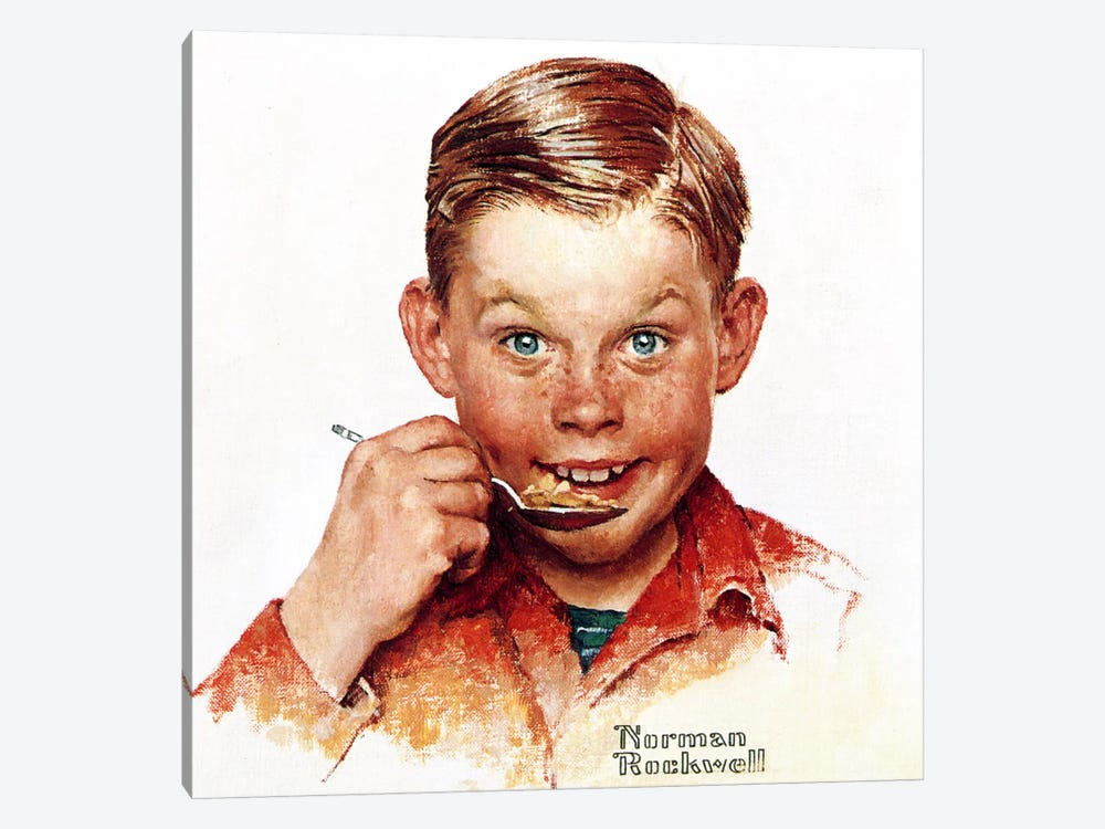 Freckles  by Norman Rockwell 1-piece Canvas Wall Art