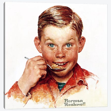Freckles  Canvas Print #NRL282} by Norman Rockwell Art Print