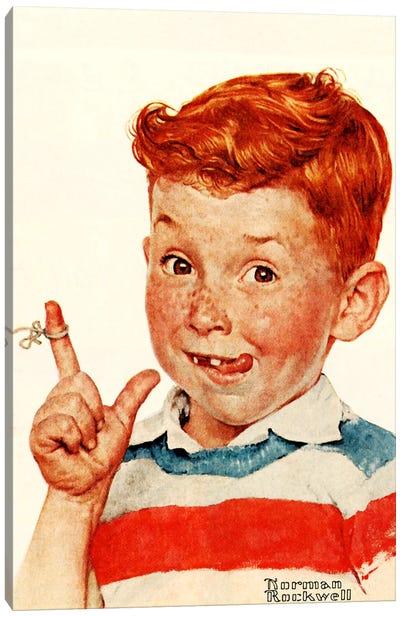 Boy with String Canvas Print #NRL283