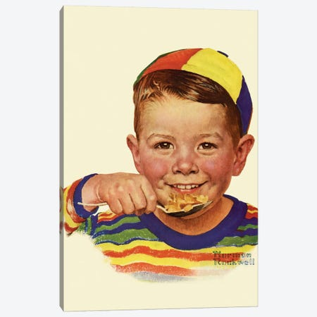 Beanie  Canvas Print #NRL284} by Norman Rockwell Canvas Art