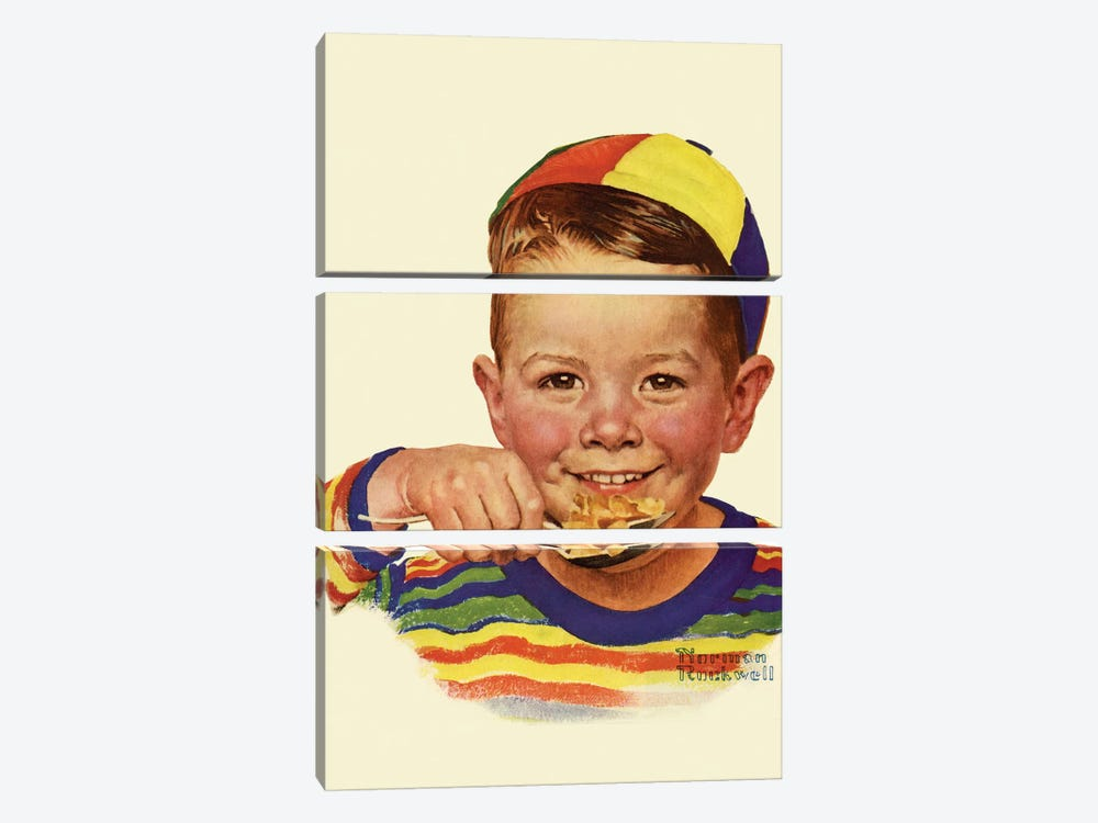 Beanie by Norman Rockwell 3-piece Canvas Artwork