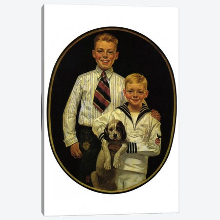 Kaynee Blouses and Wash Suits Make You Look All Dressed Up Canvas Print #NRL285} by Norman Rockwell Canvas Artwork