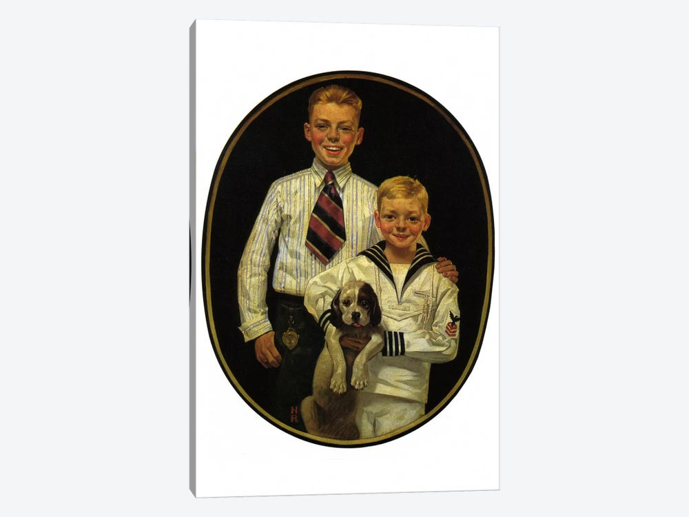 Kaynee Blouses and Wash Suits Make You Look All Dressed Up by Norman Rockwell 1-piece Canvas Art Print