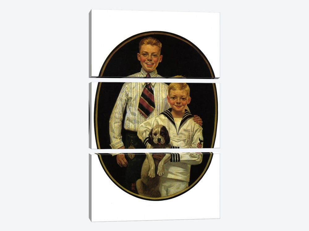Kaynee Blouses and Wash Suits Make You Look All Dressed Up by Norman Rockwell 3-piece Art Print