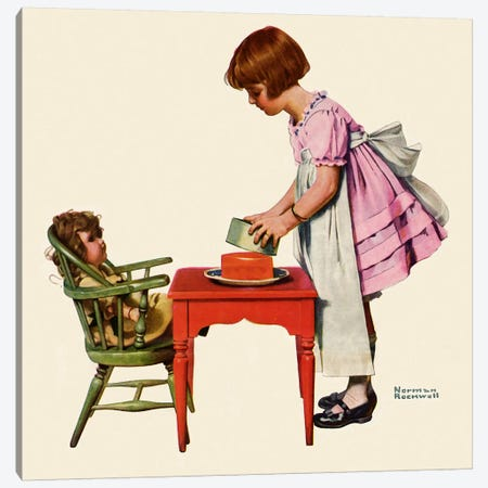 """See How Easy It Is"" Canvas Print #NRL286} by Norman Rockwell Canvas Wall Art"