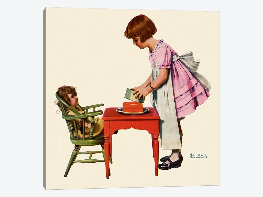 """See How Easy It Is"" by Norman Rockwell 1-piece Canvas Wall Art"