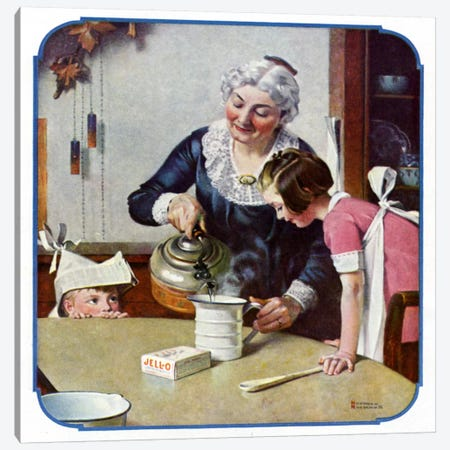 """It's So Simple"" Canvas Print #NRL287} by Norman Rockwell Canvas Wall Art"