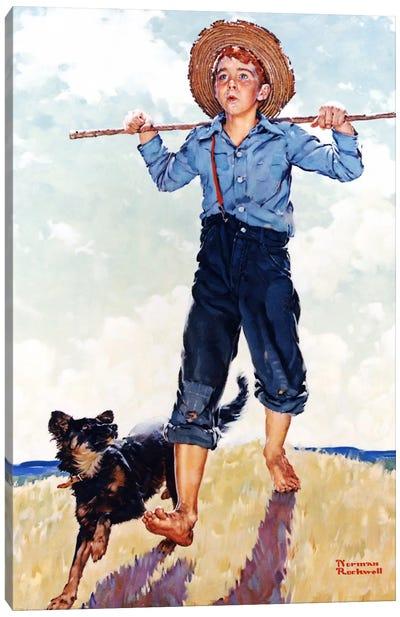 Boy and Dog Canvas Print #NRL288