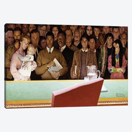 The Right to Know Canvas Print #NRL28} by Norman Rockwell Canvas Art