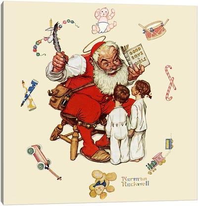 Santa's Visitors Canvas Print #NRL296