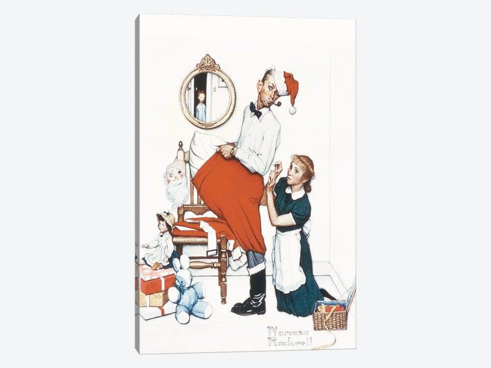 Santa's Surprise by Norman Rockwell 1-piece Canvas Art