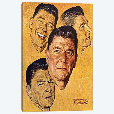 What About Reagan? Canvas Print #NRL29} by Norman Rockwell Canvas Wall Art