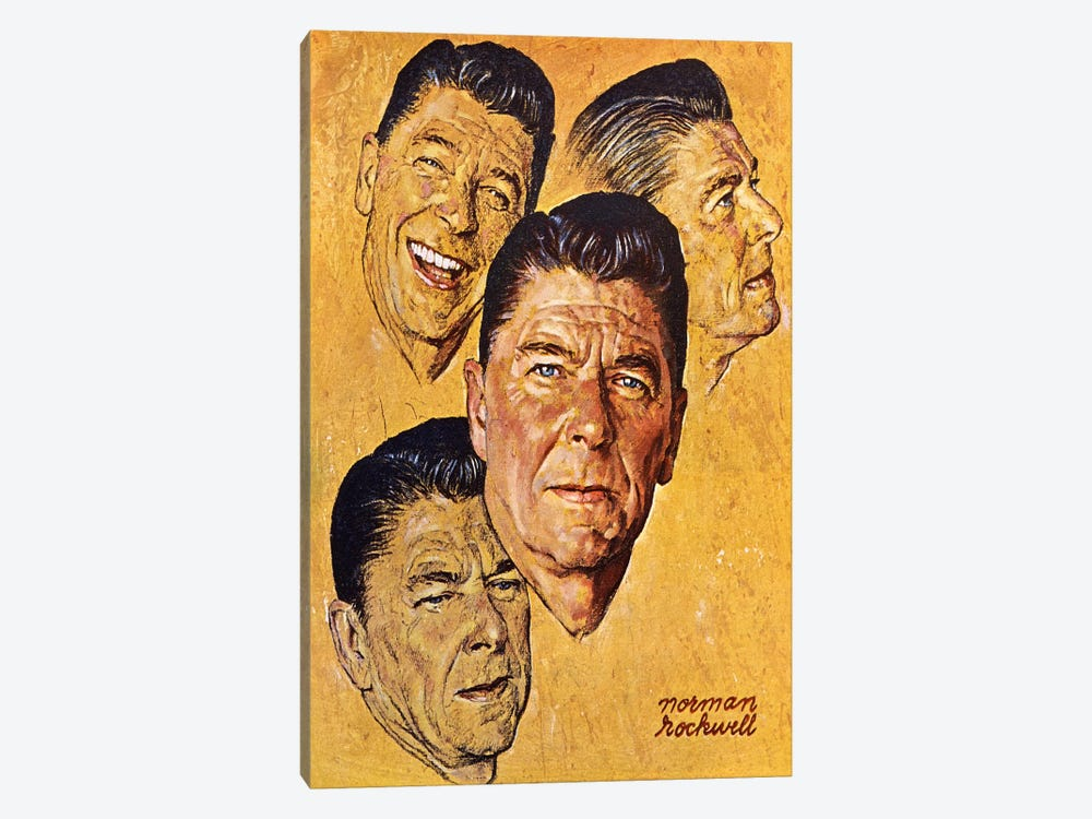 What About Reagan? by Norman Rockwell 1-piece Canvas Artwork