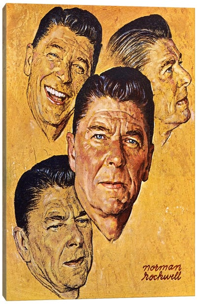 What About Reagan? Canvas Art Print