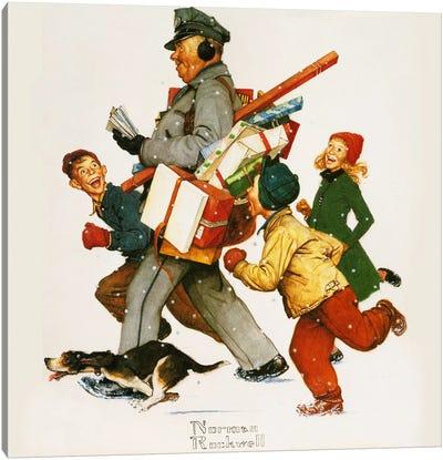 Jolly Postman Canvas Art Print