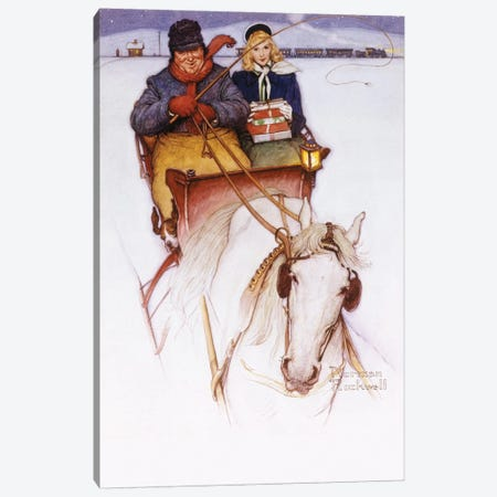 Homecoming Canvas Print #NRL302} by Norman Rockwell Canvas Artwork