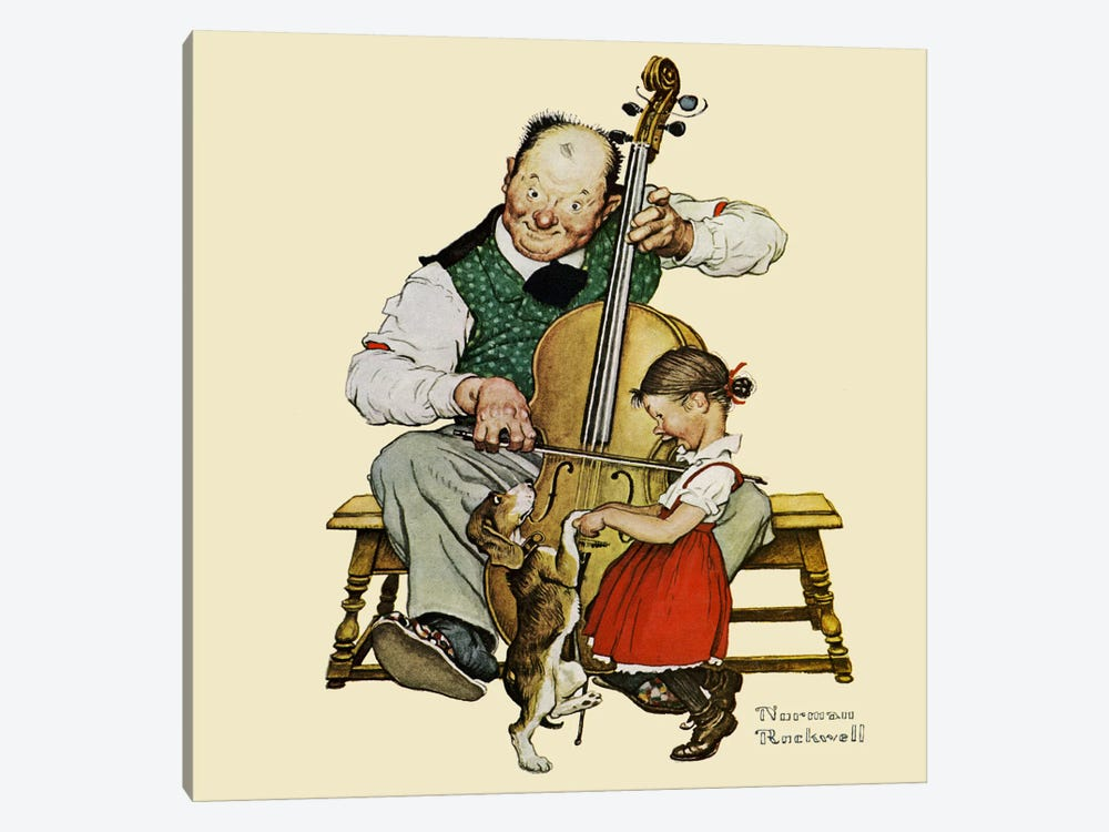Christmas Dance by Norman Rockwell 1-piece Art Print