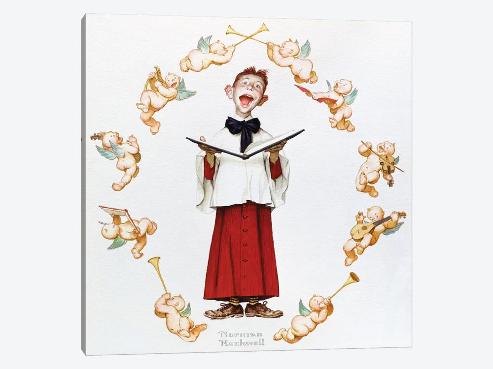 Choir Boy by Norman Rockwell 1-piece Canvas Artwork